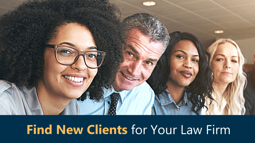 Team of attorneys at law firm having meeting about finding new clients with legal leads